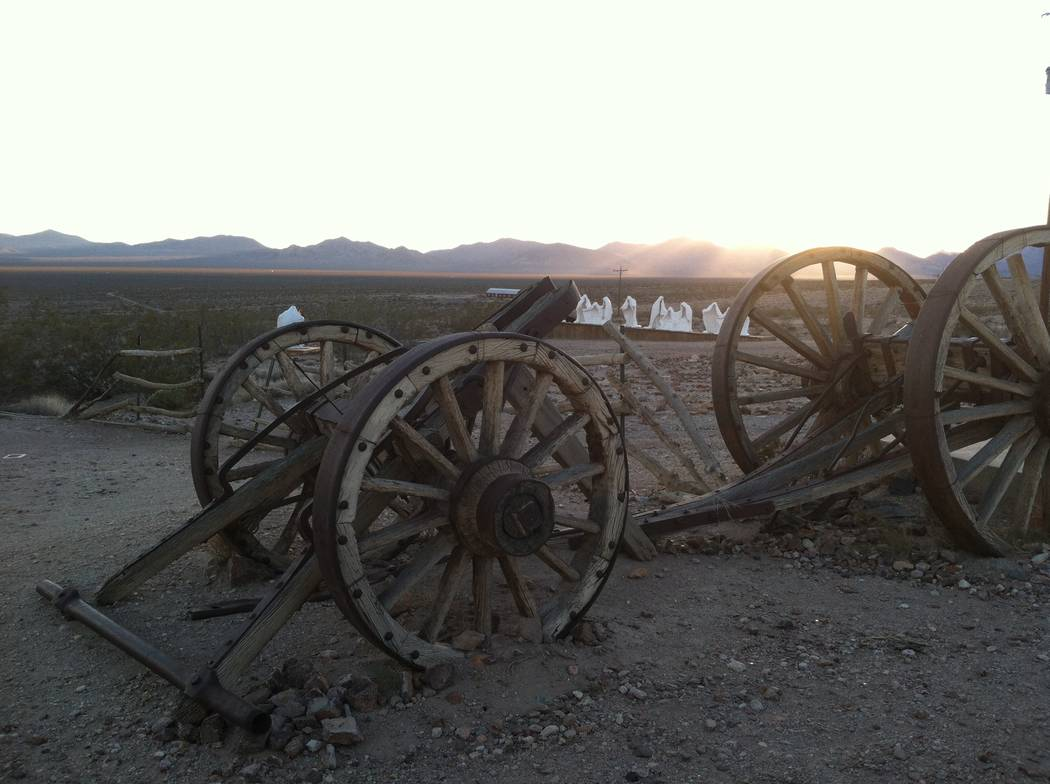Lillian Browne/Pahrump Valley Times There are no ghosts in this ghost town, other than the ones ...
