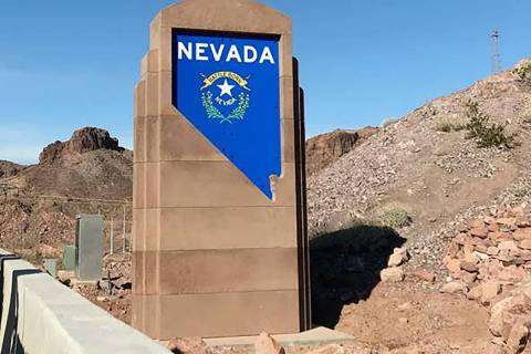 Nevada Department of Transportation The colorful design also consists of a recessed state silho ...