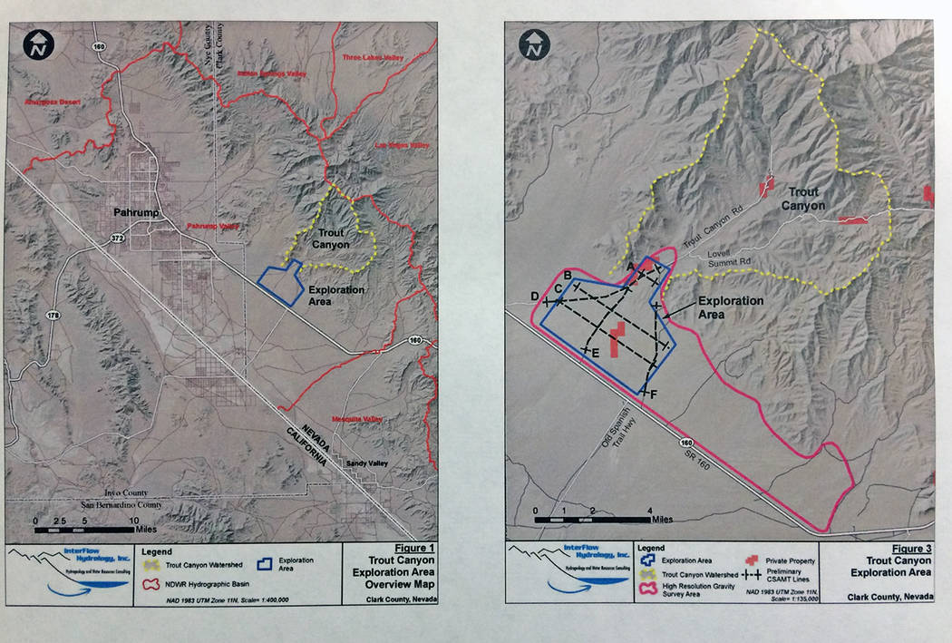 Robin Hebrock/Pahrump Valley Times This photo shows a section of the information presented by D ...