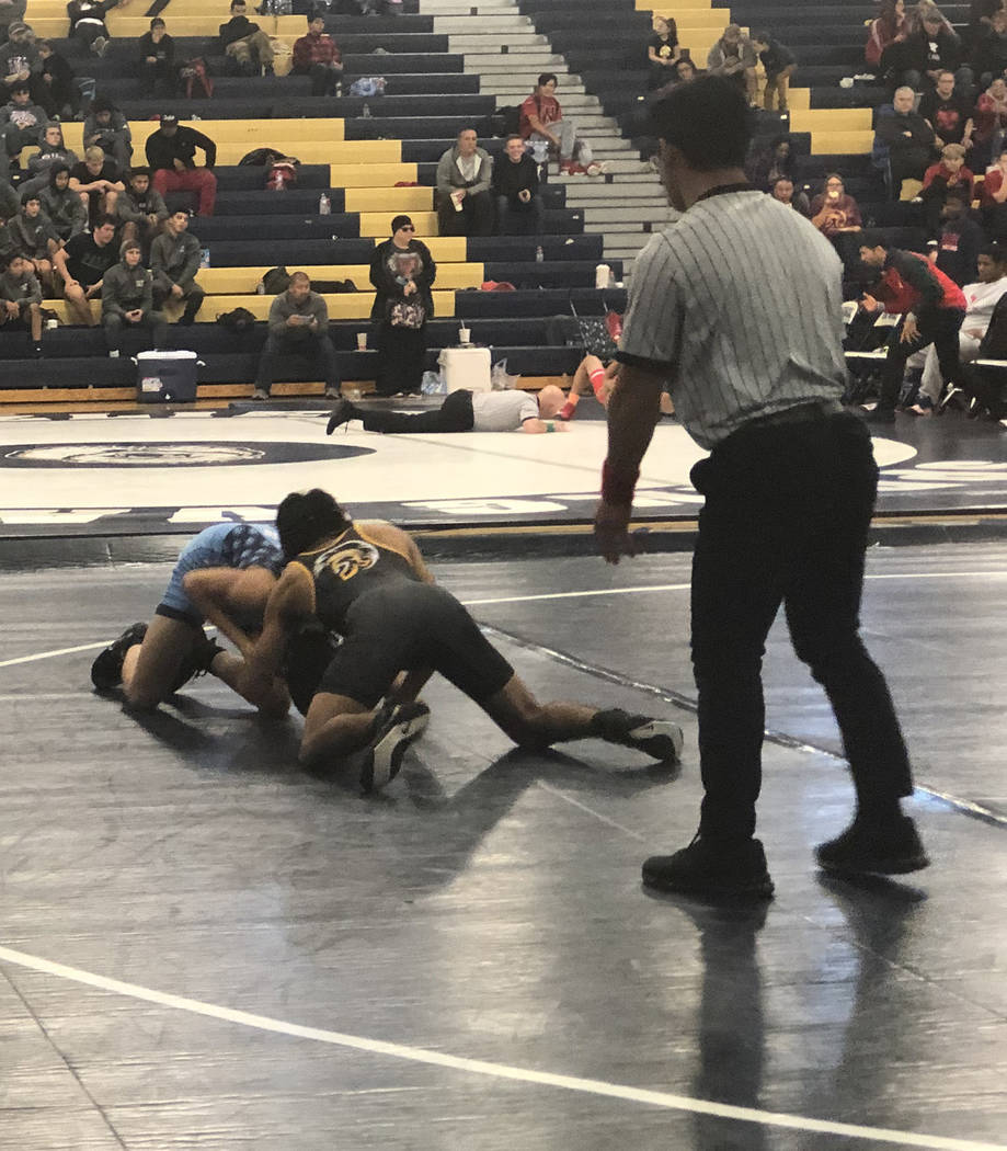 Tom Rysinski/Pahrump Valley Times Sophomore Christopher Vega went 4-1 at 120 pounds on Saturday ...