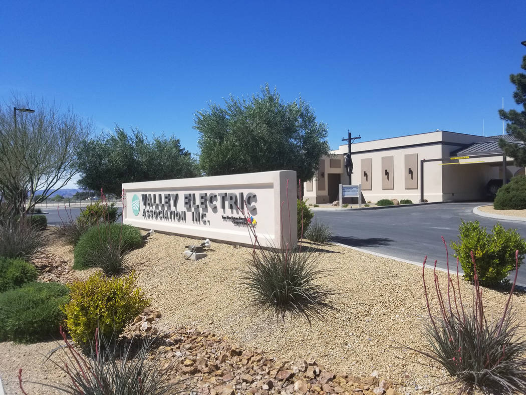 David Jacobs/Pahrump Valley Times Former leader of Valley Electric Association Inc., Angela Ev ...