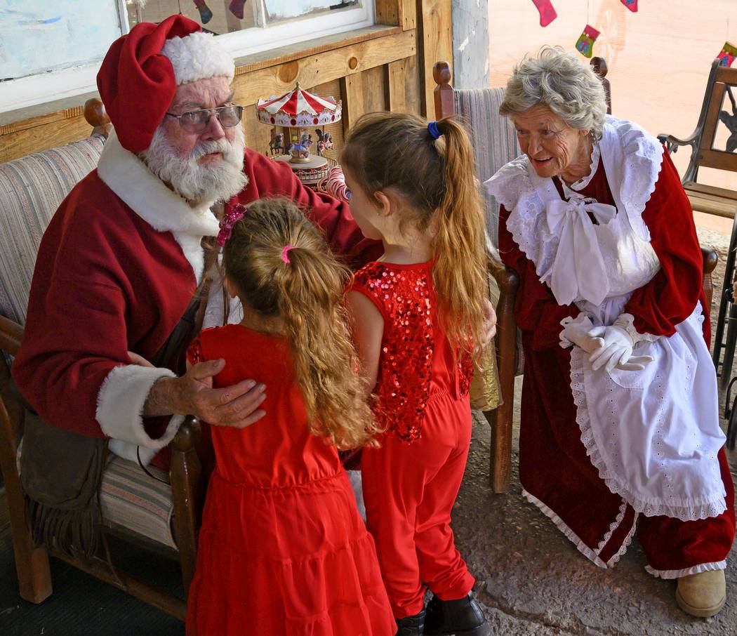 Richard Stephens/Special to the Pahrump Valley Times Santa's visits to Beatty are kicked off ...