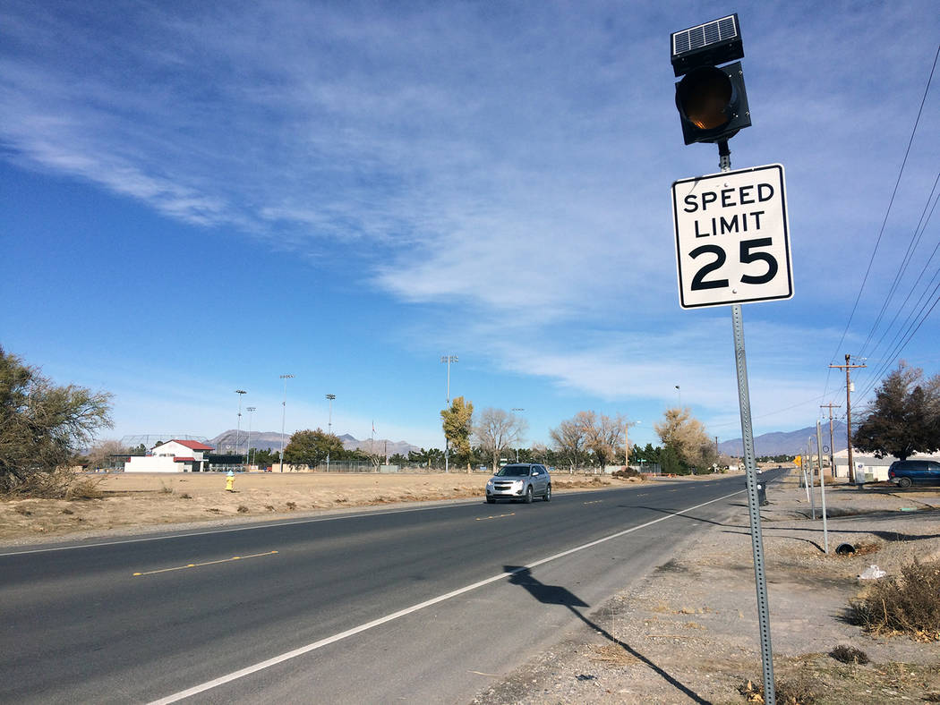 Robin Hebrock/Pahrump Valley Times The speed limit on Dandelion Street is also being raised. Th ...