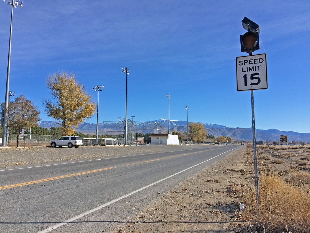 Robin Hebrock/Pahrump Valley Times Speeds in front of Ian Deutch Memorial Park will increase as ...