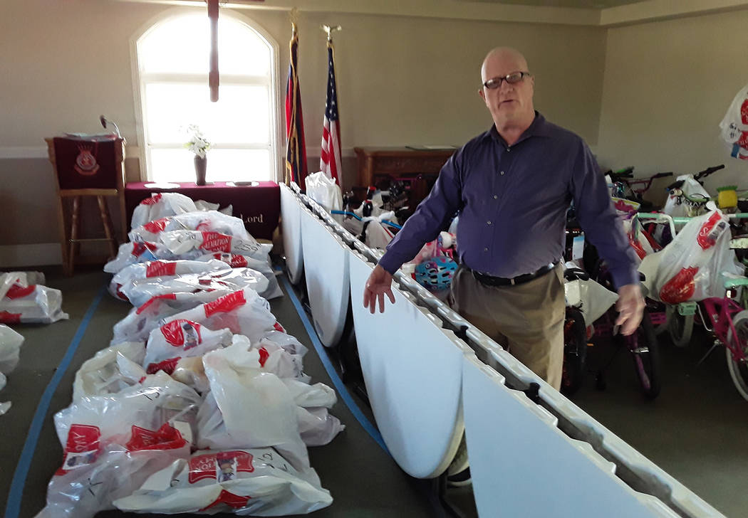 Selwyn Harris/Pahrump Valley Times Last year, 130 children's names were signed up for our Ang ...