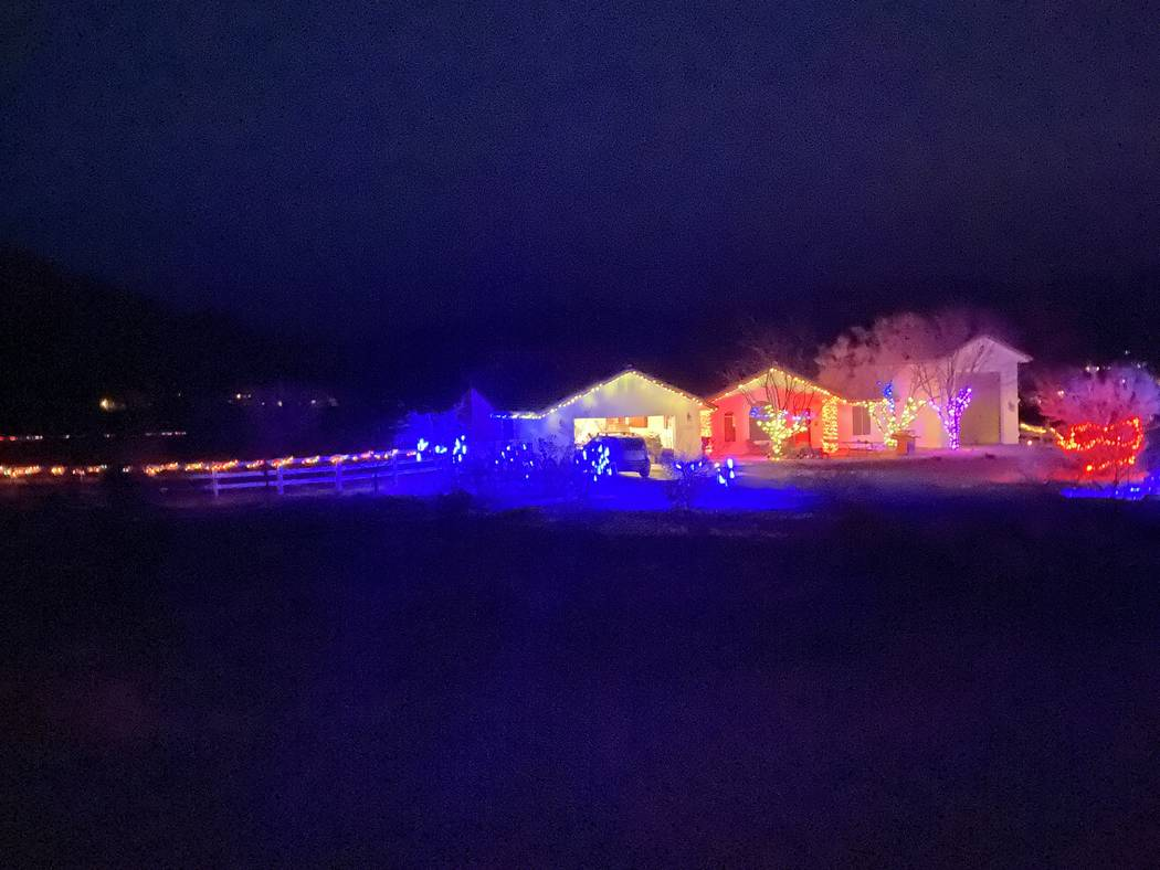 Jeffrey Meehan/Pahrump Valley Times A large Christmas light display can be viewed at 4450 W. Me ...