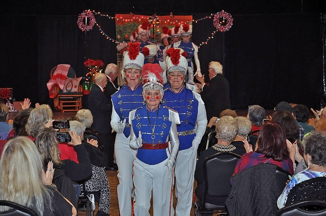 Horace Langford Jr./Pahrump Valley Times Leading the Silver Tappers in the traditional last per ...