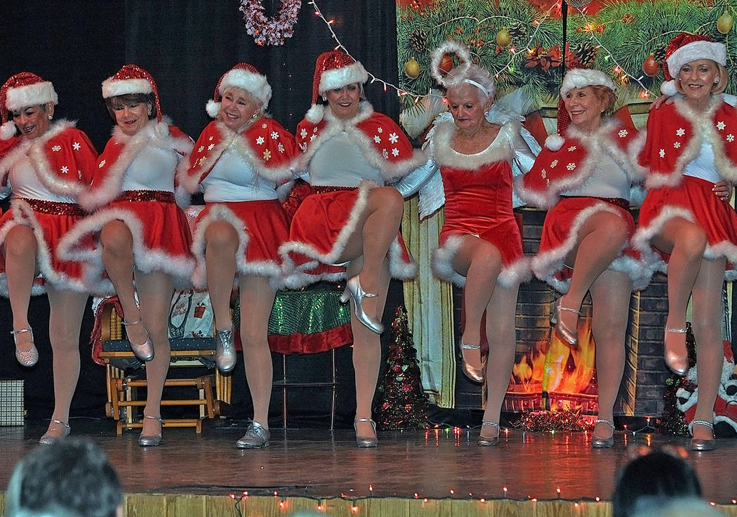 Horace Langford Jr./Pahrump Valley Times Decked out in holiday style, the ladies who took to th ...
