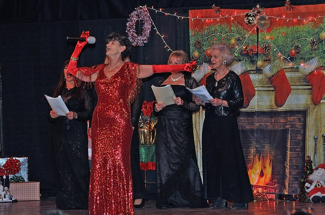 """Horace Langford Jr./Pahrump Valley Times Belting out the classic Christmas tune """"Jingle Bell Ro ..."""