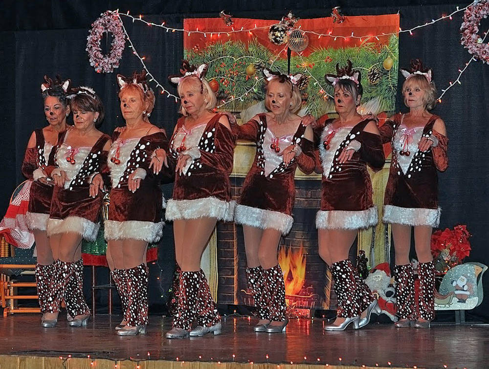 Horace Langford Jr./Pahrump Valley Times The ladies of the Nevada Silver Tappers perform a bran ...
