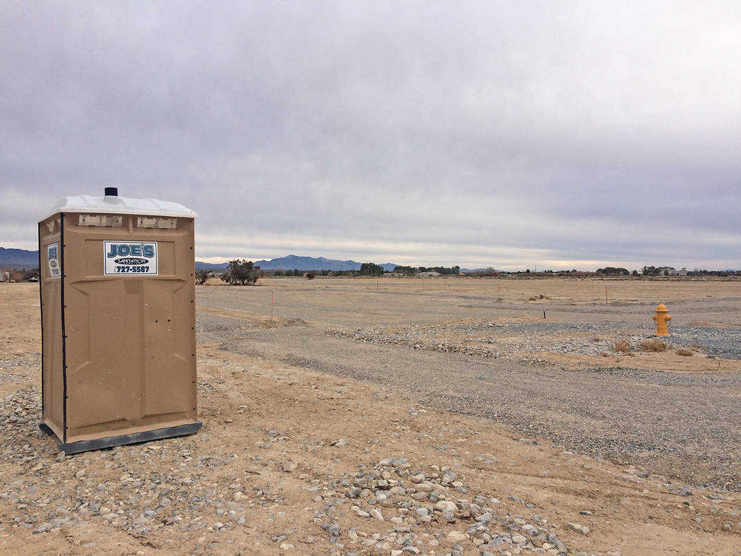 Robin Hebrock/Pahrump Valley Times The 18 acres that comprise phase one of the Kellogg Park pro ...