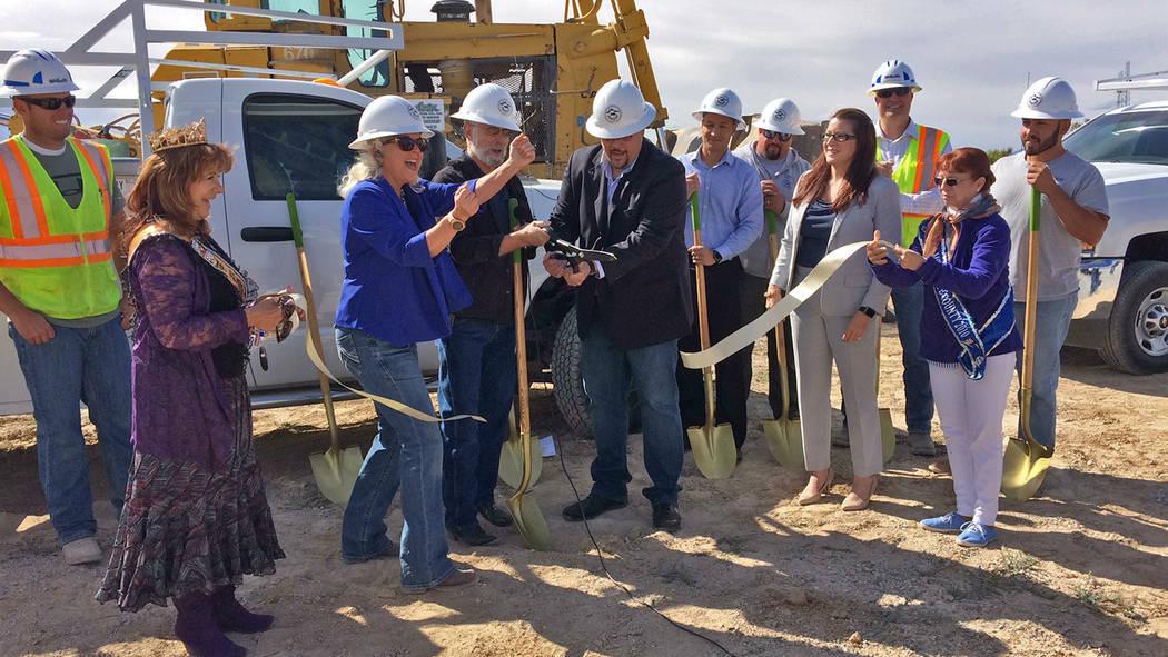 Robin Hebrock/Pahrump Valley Times Nye County Commissioners Debra Strickland, John Koenig and L ...
