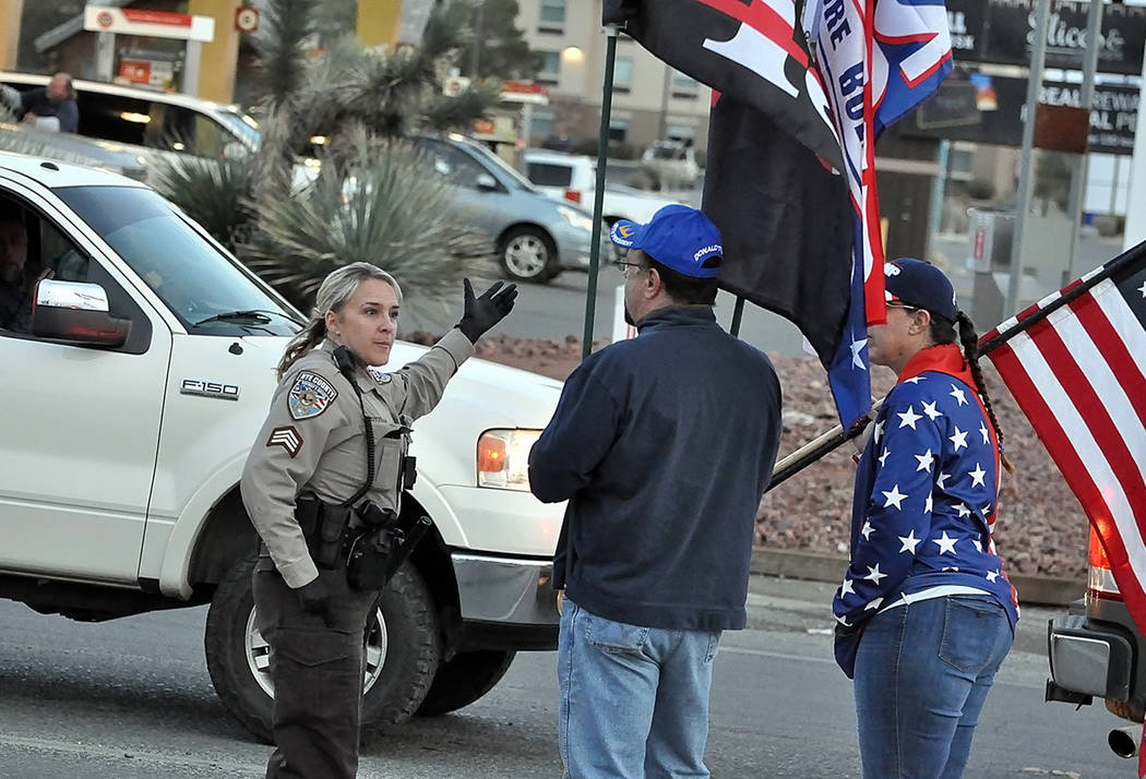 Horace Langford Jr./Pahrump Valley Times - Nye County Sheriff's Office Sgt. Kaycee Otteson ...