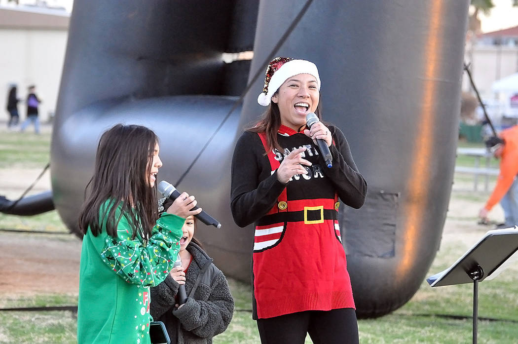 Horace Langford Jr./Pahrump Valley Times Kozue Maye of Downbeat Music Lab performed for the cro ...