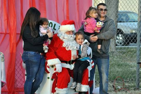 Horace Langford Jr./Pahrump Valley Times Santa Claus was in town on Friday, Dec. 13 to celebra ...