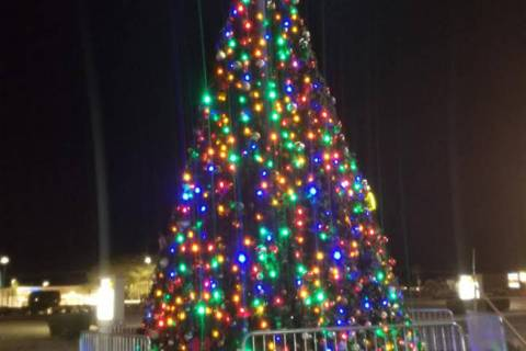 David Jacobs/Pahrump Valley Times The Community Christmas Tree now sits as a beacon of the seas ...