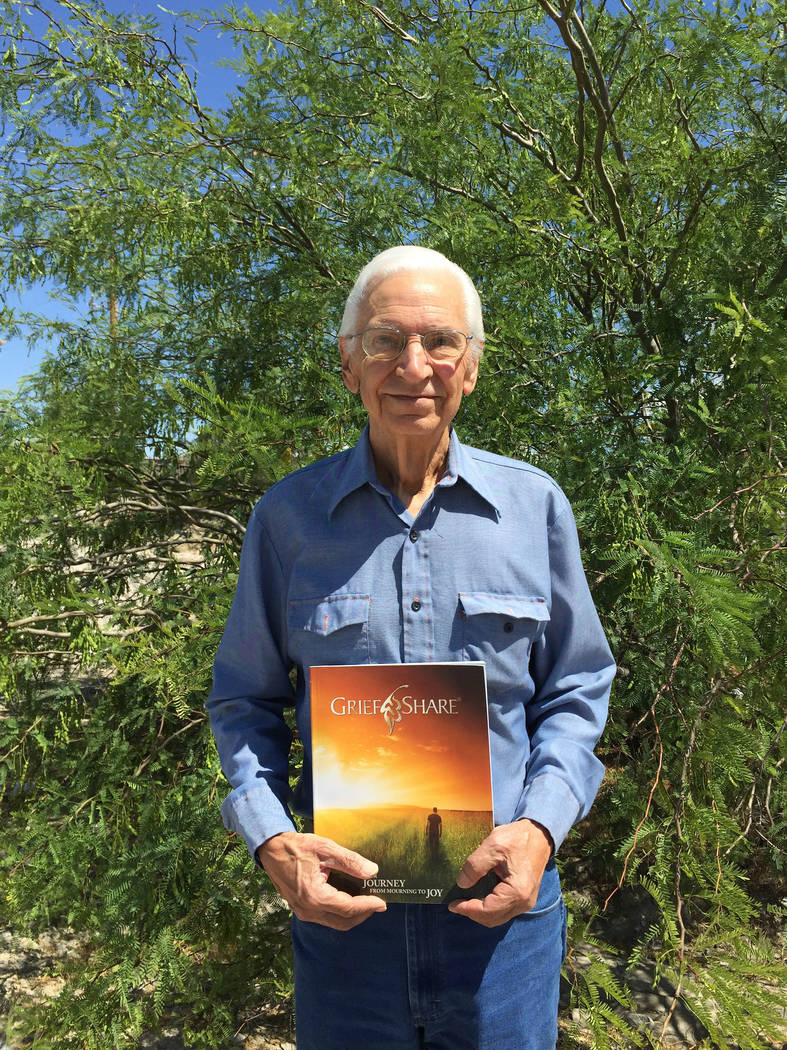 Mick Akers/Pahrump Valley Times Pahrump GriefShare chapter founder Pete Giordano brought the or ...