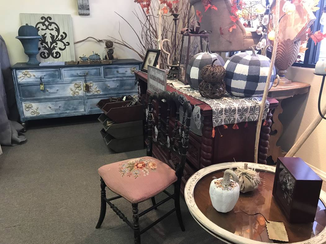 Jeffrey Meehan/Pahrump Valley Times A shop that focuses on farmhouse decor, along with antique ...