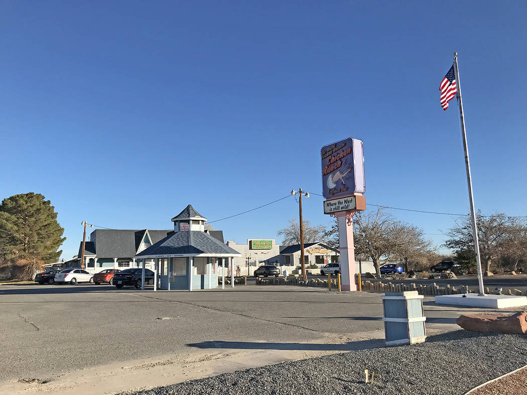 Robin Hebrock/Pahrump Valley Times The Chicken Ranch brothel, as seen in this Dec. 31, 2019 pho ...