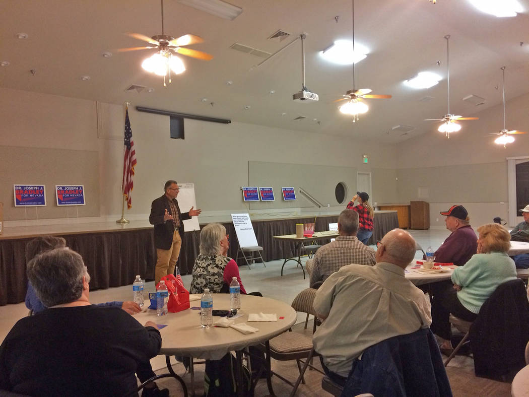Robin Hebrock/Pahrump Valley Times Dr. Joseph Bradley is seeking the Republican nomination for ...