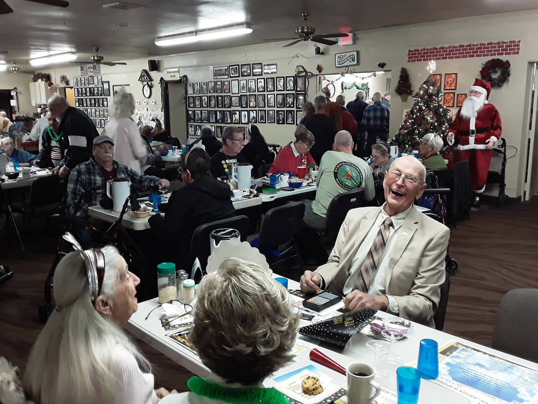 Selwyn Harris/Pahrump Valley Times Pahrump resident John Easton has a laugh during the Pahrump ...
