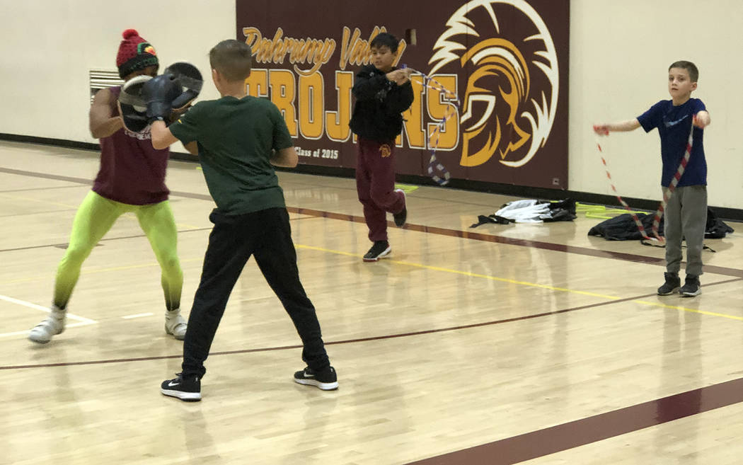 """Tom Rysinski/Pahrump Valley Times Kids participating in Dominique Maloy's """"A Youth Sports Exper ..."""