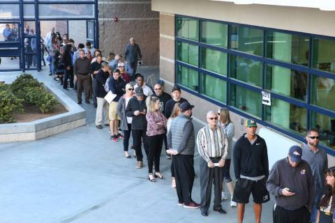 Bizuayehu Tesfaye/Las Vegas Review-Journal/file Democratic Party active registered voters state ...
