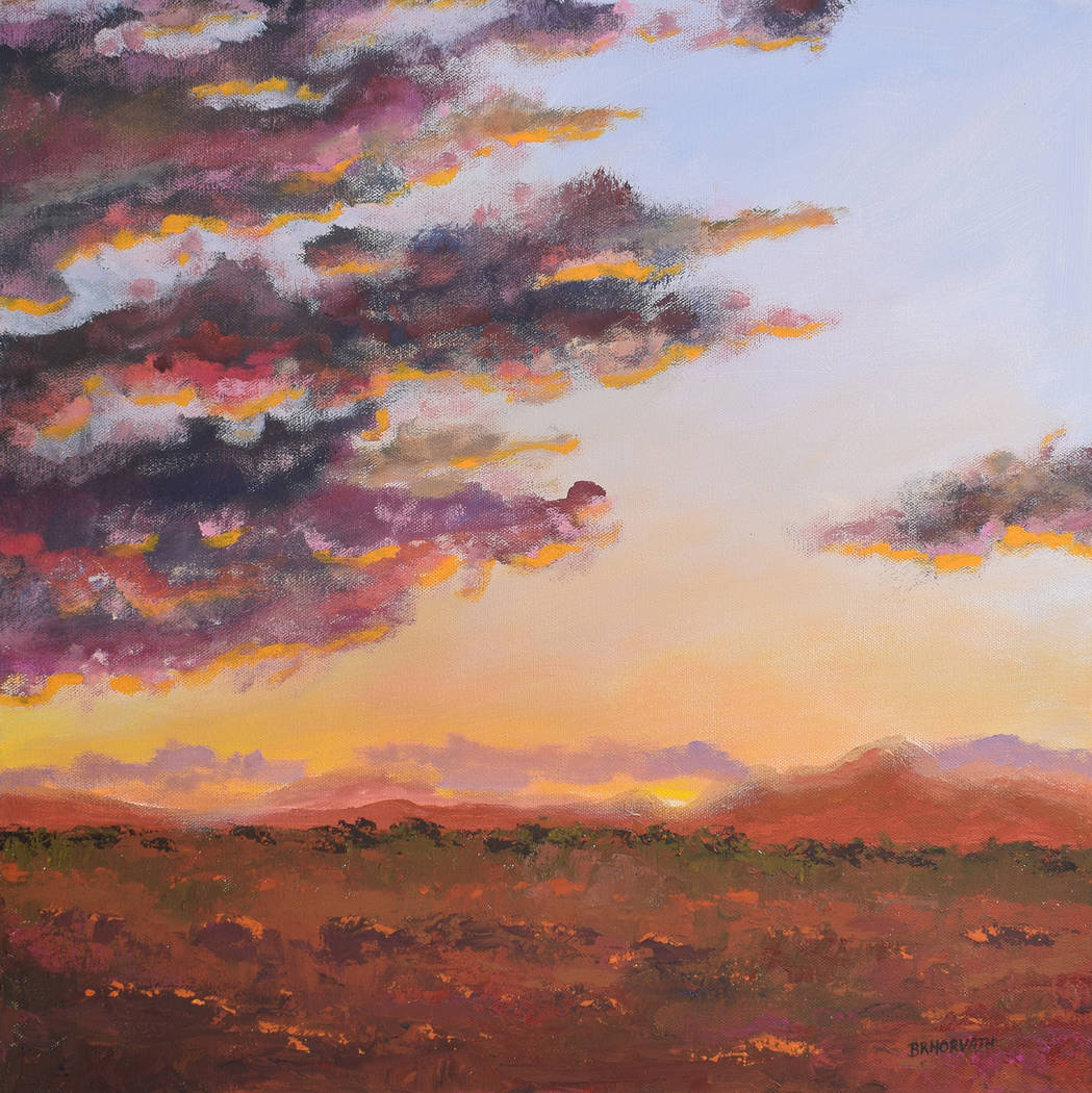 """Pahrump Arts Council """"July Sunset"""" by Bruce Horvath as shown in an image provided by the Pahrum ..."""