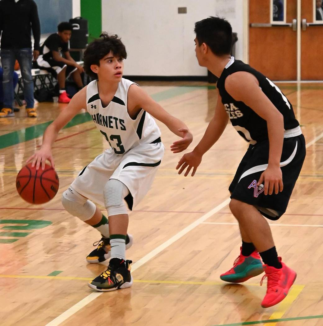 Richard Stephens/Special to the Pahrump Valley Times Beatty's Ethan Mendoza looks for a passing ...