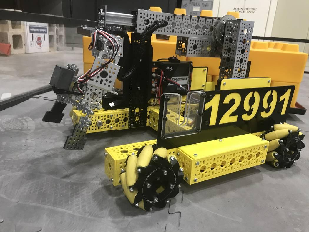 Jeffrey Meehan/Pahrump Valley Times Pahrump Southern Nye County 4-H robotics team Awkward Silen ...