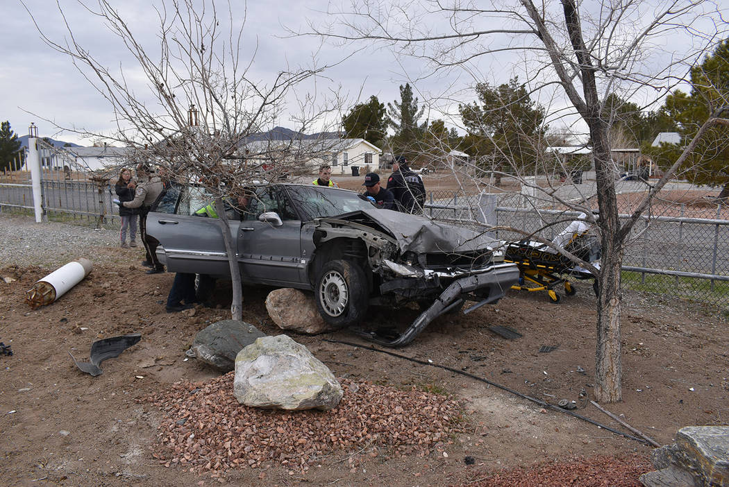 Special to the Pahrump Valley Times Two people were transported to Desert View Hospital after P ...