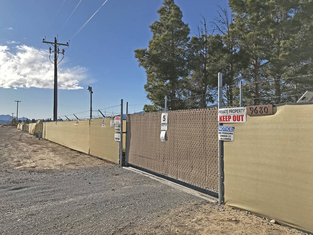 Robin Hebrock/Pahrump Valley Times Taken the morning of Jan. 9, this photo shows an entrance to ...