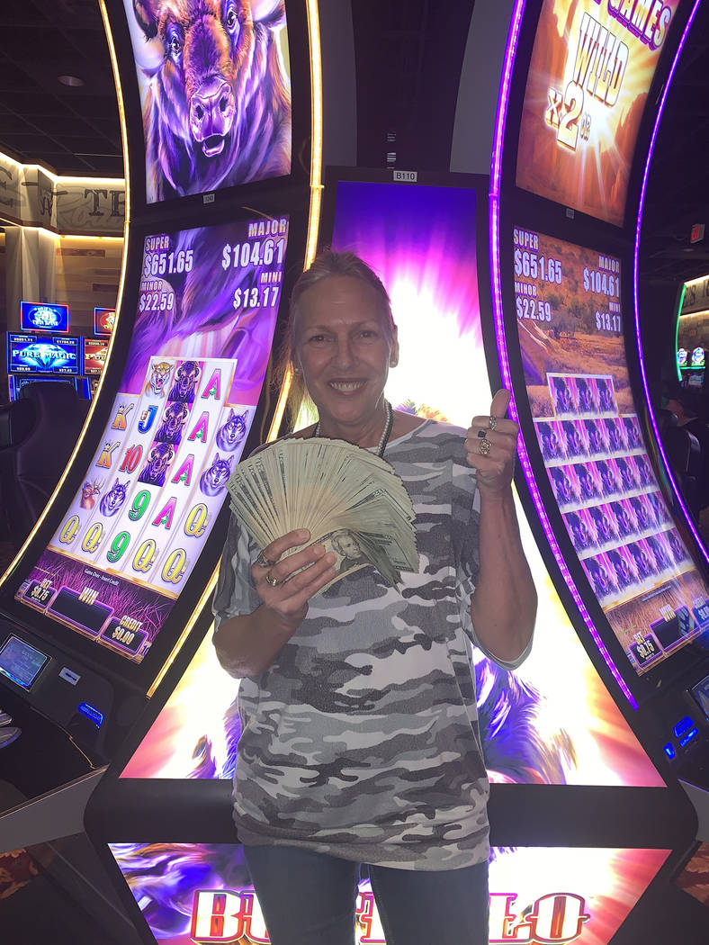 Special to the Pahrump Valley Times A woman visiting from Canada, won $779,384.13 on an Aristoc ...