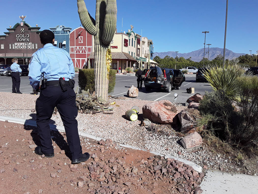 Selwyn Harris/Pahrump Valley Times Saturday's high-speed pursuit ended after the suspect lost c ...