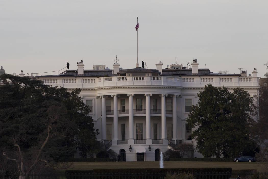 Erik Verduzco/Las Vegas Review-Journal The White House on Thursday, Jan. 19, 2017, in Washington.