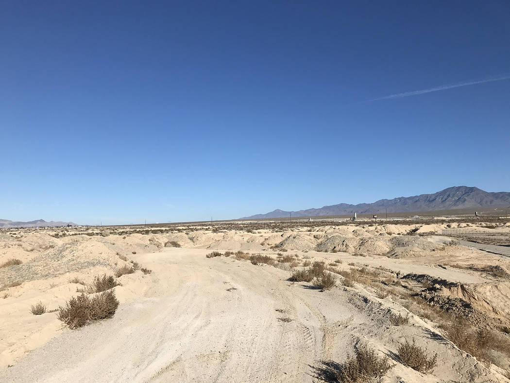 Robin Hebrock/Pahrump Valley Times A view of the Pahrump Fairgrounds when looking north from ne ...
