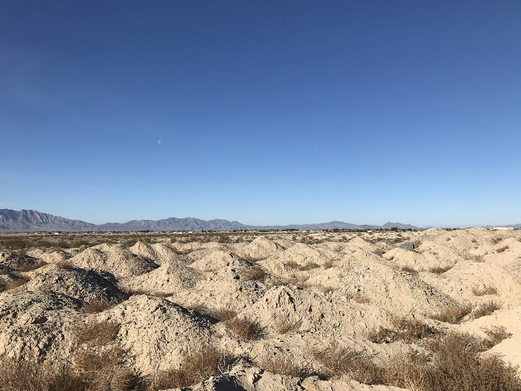 Robin Hebrock/Pahrump Valley Times The view of the Pahrump Fairgrounds to the west of the Pahru ...