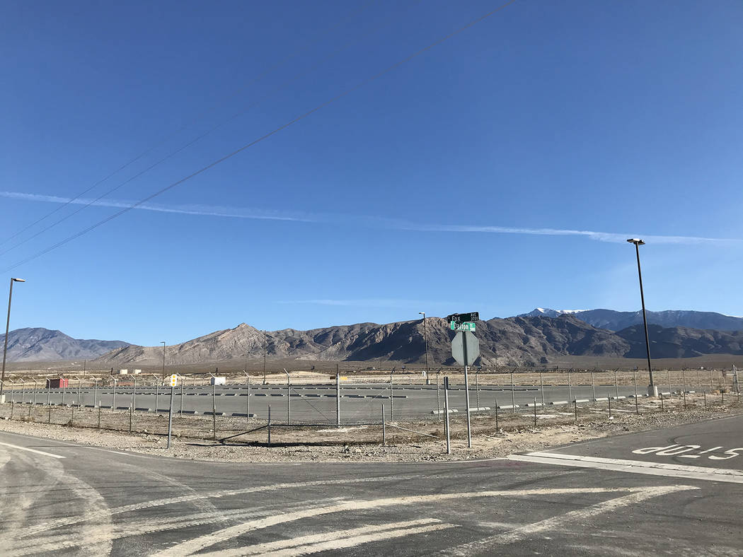 Robin Hebrock/Pahrump Valley Times The Pahrump Fireworks Shoot Site is the only public amenity ...