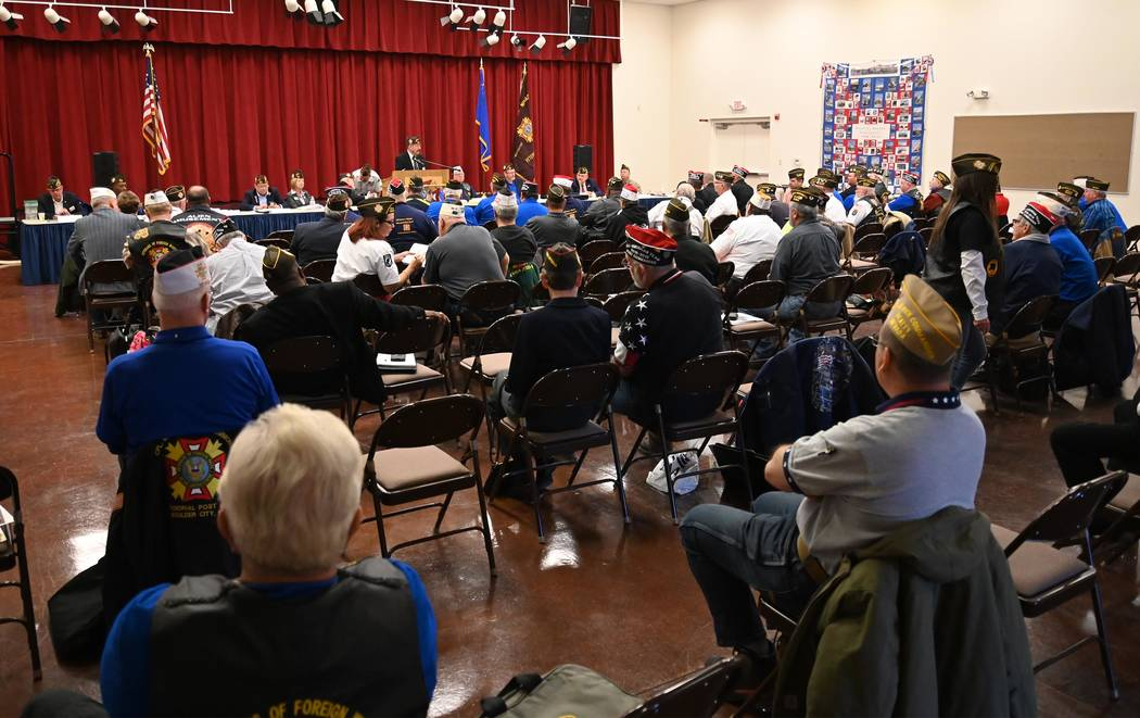 Richard Stephens/Special to the Pahrump Valley Times Attendees of the Nevada VFW mid-winter con ...