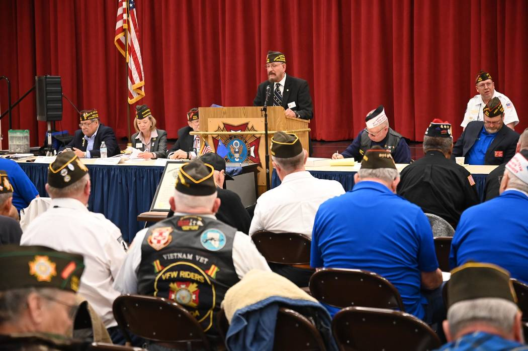 Richard Stephens/Special to the Pahrump Valley Times VFW officials conducted matters of busines ...