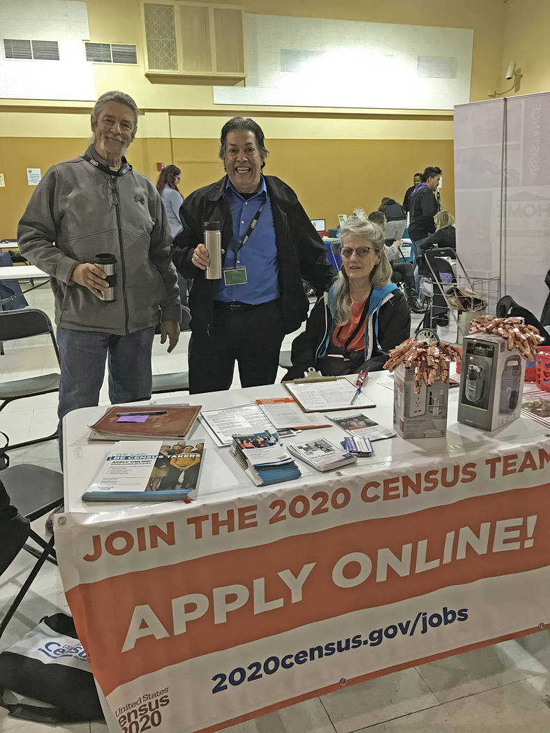 Robin Hebrock/Pahrump Valley Times Employees with the U.S. Census Bureau are shown attending a ...