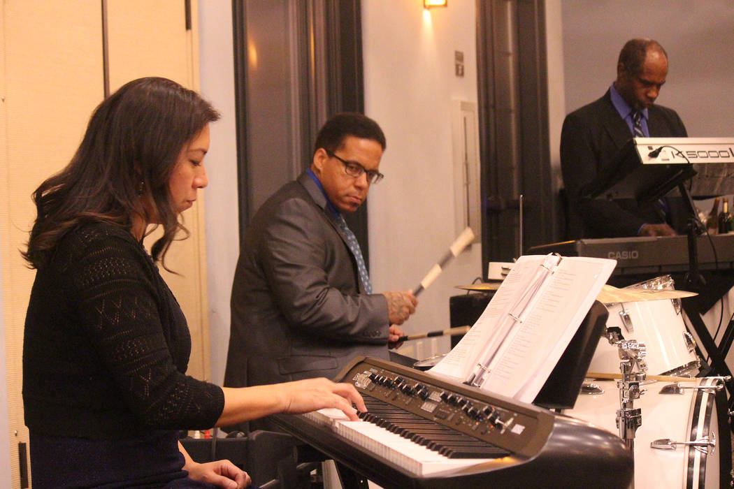 Jeffrey Meehan/Pahrump Valley Times Live music was provided by DownBeat Music Lab in Pahrump fo ...