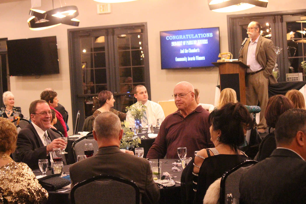 Jeffrey Meehan/Pahrump Valley Times Roughly 100 people gathered at the Mountain Falls Grill Roo ...