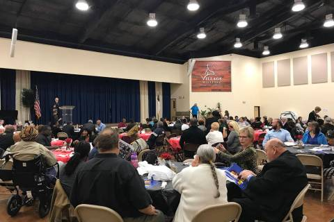 Robin Hebrock/Pahrump Valley Times A large crowd of Pahrump area residents gathered at Pahrump ...