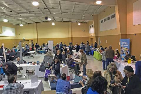 Robin Hebrock/Pahrump Valley Times The NyE Communities Coalition Activities Center was packed w ...