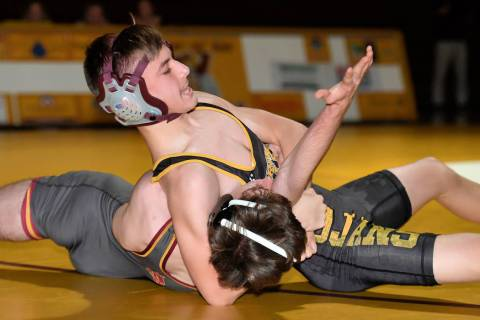 Peter Davis/Special to the Pahrump Valley Times Pahrump Valley sophomore Mason Prunchak closes ...