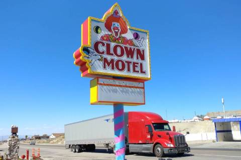 Hame Anand/Special to the Times-Bonanza The Clown Motel in Tonopah has a redesigned and repaint ...