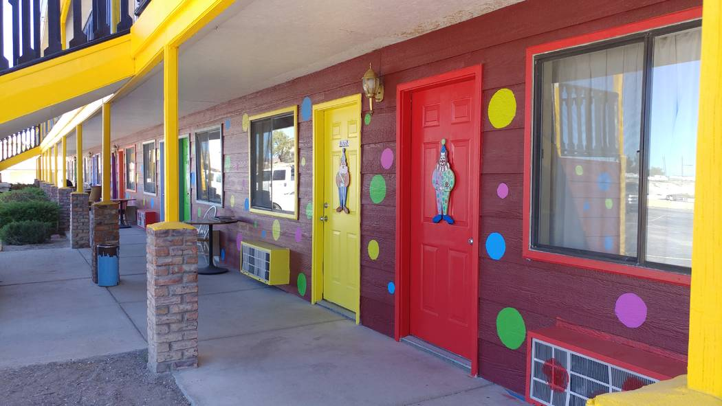 Hame Anand/Special to the Times-Bonanza The Clown Motel in Tonopah is dressed with polka dots a ...