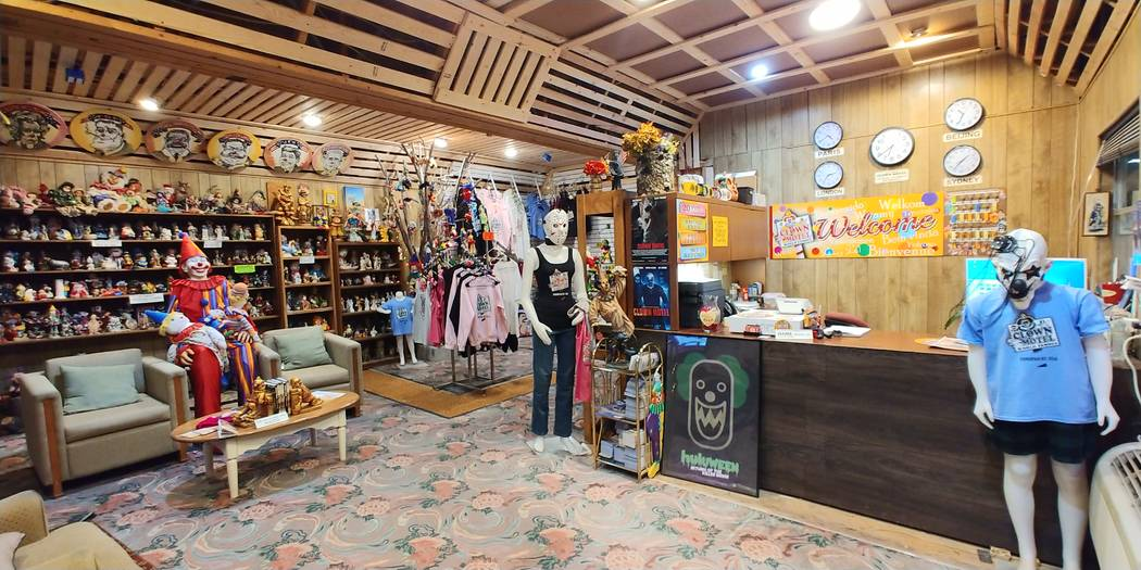 Hame Anand/Special to the Times-Bonanza The lobby and reception area of the Clown Motel in Tono ...