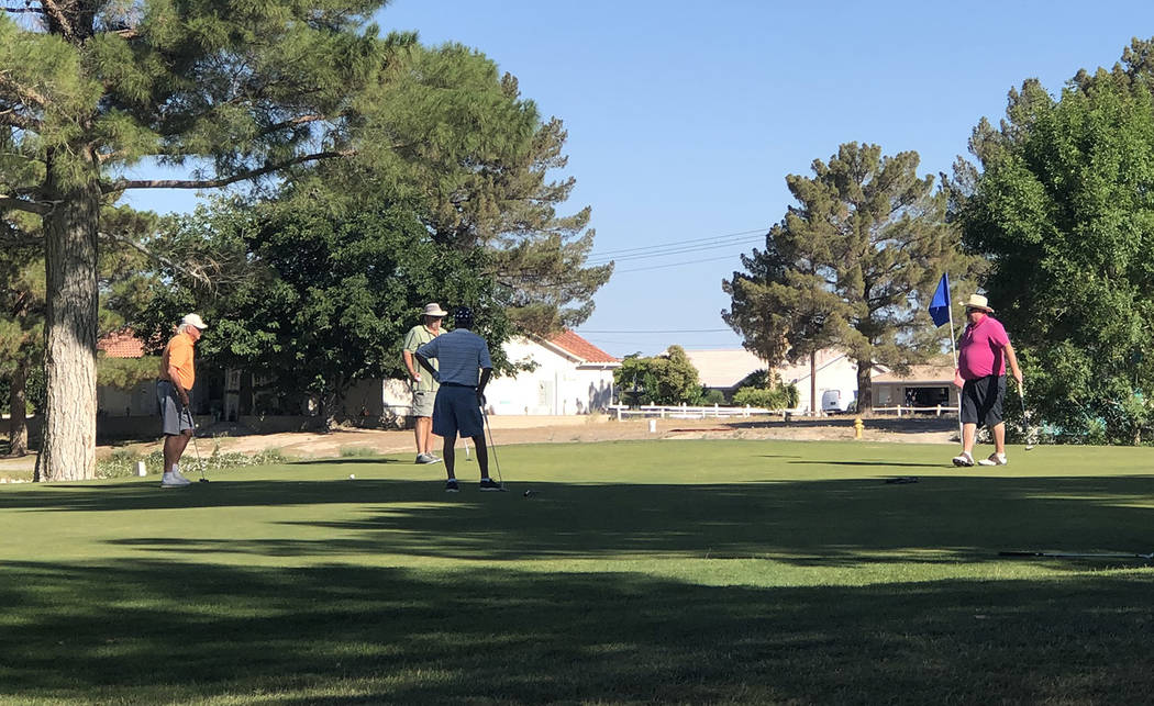 Tom Rysinski/Pahrump Valley Times Four of the 70 players that participated in Saturday's Pahrum ...
